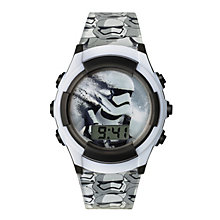 Star Wars Childs White Storm Trooper Flashing LCD Watch - Product number 3794059