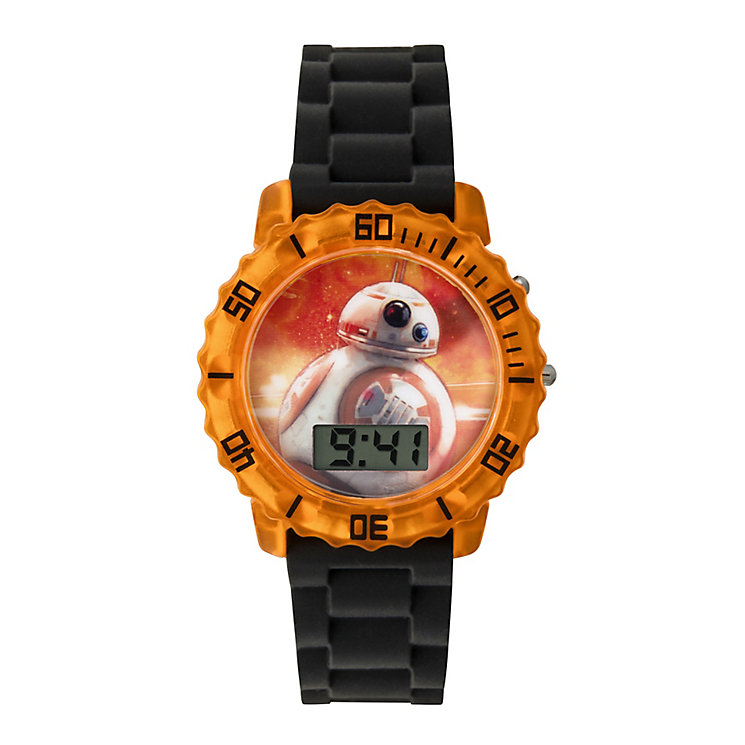 Star Wars Childs BB-8 Black Flashing LCD Watch - Product number 3794083