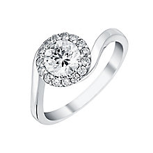 9ct White Gold Round Cubic Zirconia Set Ring - Product number 3794423