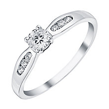 9ct White Gold Cubic Zirconia Solitaire Ring - Product number 3795772