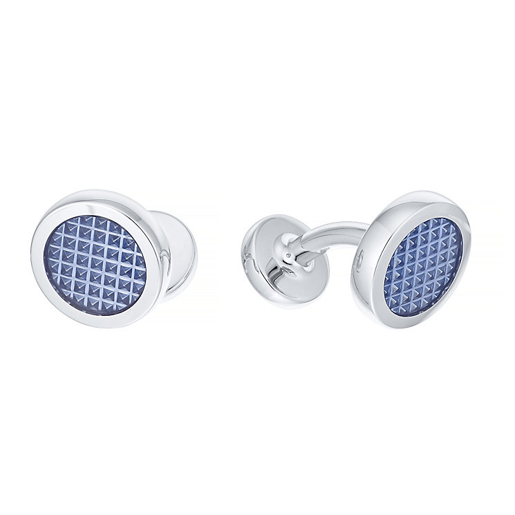 Hugo Boss Stainless Steel Blue Cufflinks - Product number 3796558