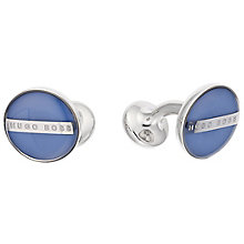 Hugo Boss Stainless Steel Blue Cufflinks - Product number 3796590