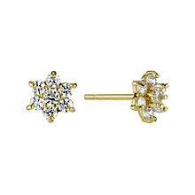 9ct Gold Cubic Zirconia Star Shaped Stud Earrings - Product number 3799468