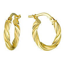 9ct Gold 15mm Creole Earrings - Product number 3800121