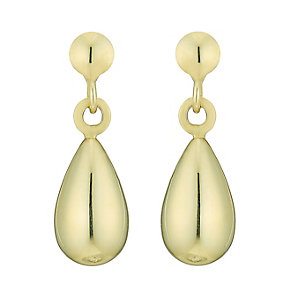 9ct Gold Bomber Drop Earrings - Product number 3800350