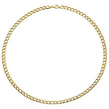 "9ct Gold 24"" Curb Necklace - Product number 3800903"