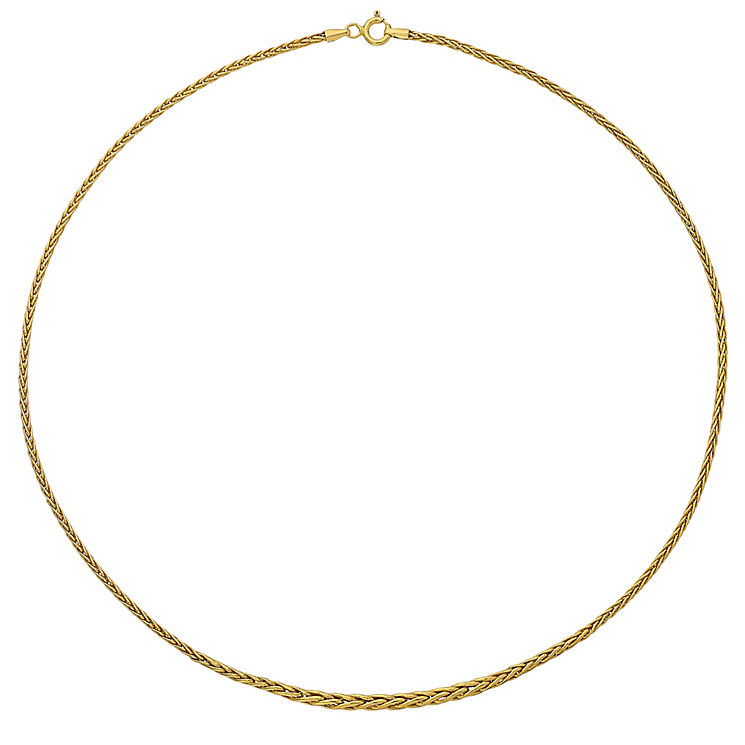 "9ct Gold 17"" Graduated Wheat Necklace - Product number 3800946"