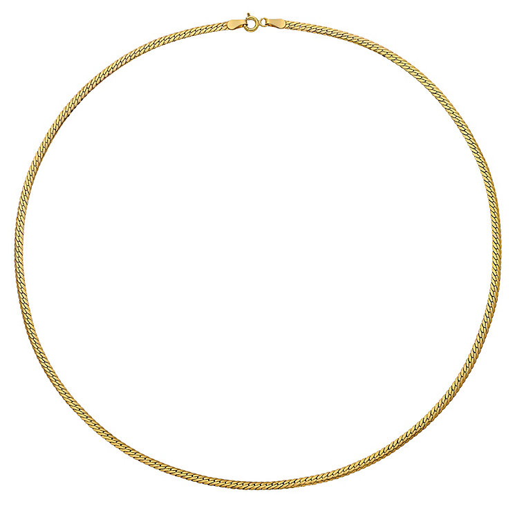 "9ct Yellow Gold 18"" Herringbone Necklace - Product number 3800962"