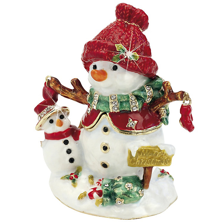 Snowman & Baby Trinket Box - Product number 3801012