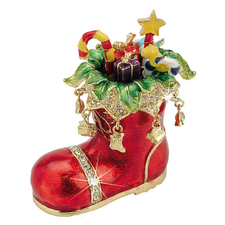 Santa's Boot Trinket Box - Product number 3801039