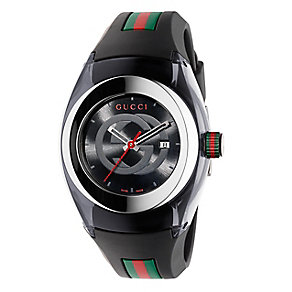 Gucci Sync ladies' stainless steel black rubber strap watch - Product number 3801365