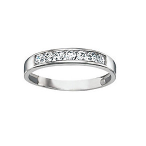 9ct White Gold Cubic Zirconia Ring - Product number 3803627