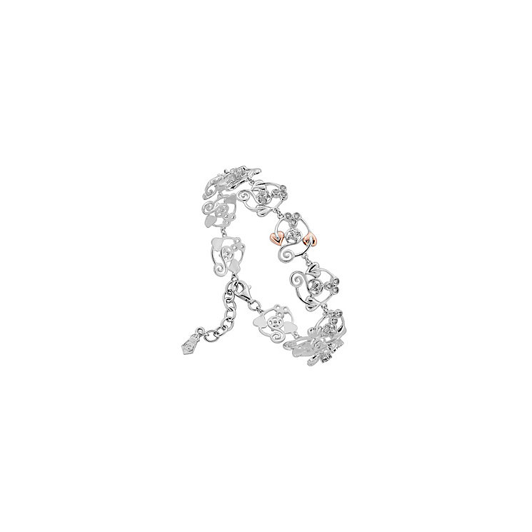 Clogau Gold Sterling Silver & 9ct Rose Gold Origin Bracelet - Product number 3805026