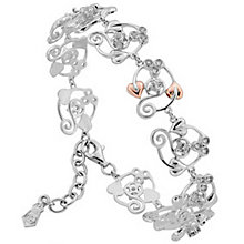 Clogau Gold Sterling Silver & 9ct Rose Gold Origin Bracelet - Product number 3805026