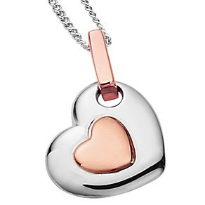Clogau Gold Silver & 9ct Rose Gold Cariad Heart Pendant - Product number 3805212