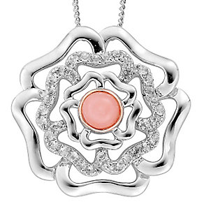Clogau Gold Sterling Silver & 9ct Gold Tudor Rose Pendant - Product number 3805271