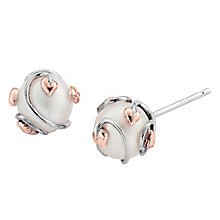Clogau Gold Silver 9ct Gold Pearl Tree Of Life Stud Earrings - Product number 3805662