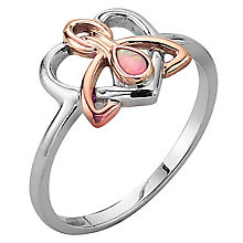 Clogau Gold Silver & 9ct Rose Gold Opal Dwynwen Ring - Product number 3806111