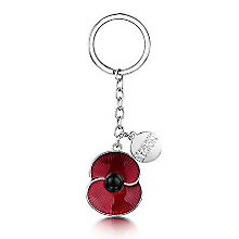 Buckley Red Poppy Royal British Legion Charm Keyring - Product number 3808491