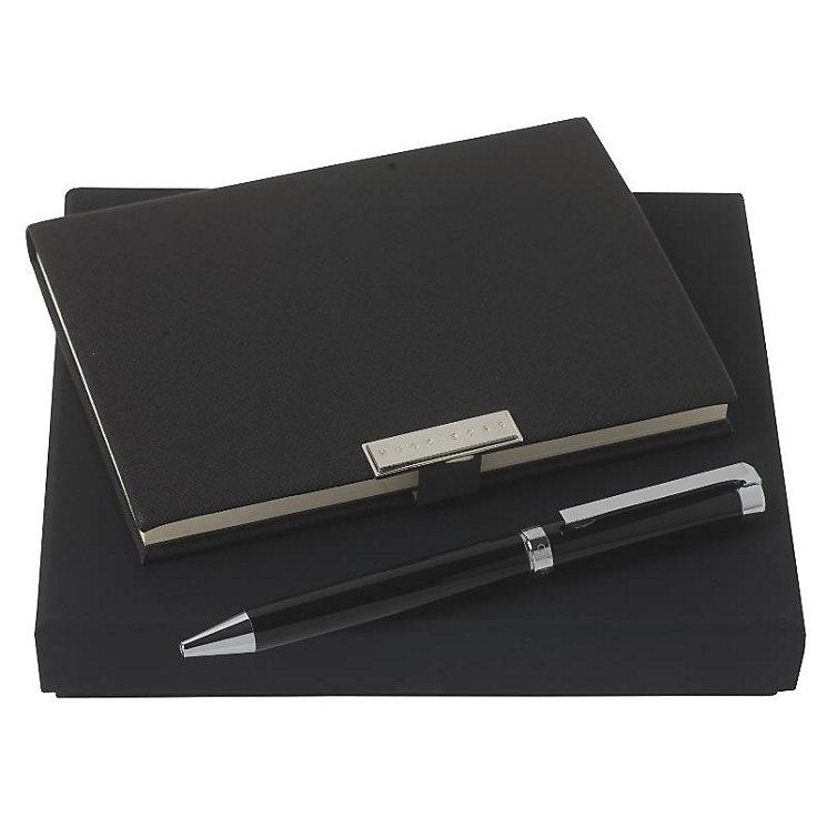 Hugo Boss Spot black pen & notebook set - Product number 3808556