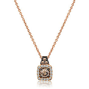 Le Vian 14ct Strawberry Gold and Chocolate Diamond pendant - Product number 3808580