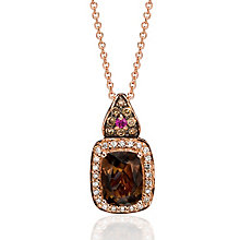 Le Vian 14ct Strawberry Gold diamond and quartz pendant - Product number 3808599