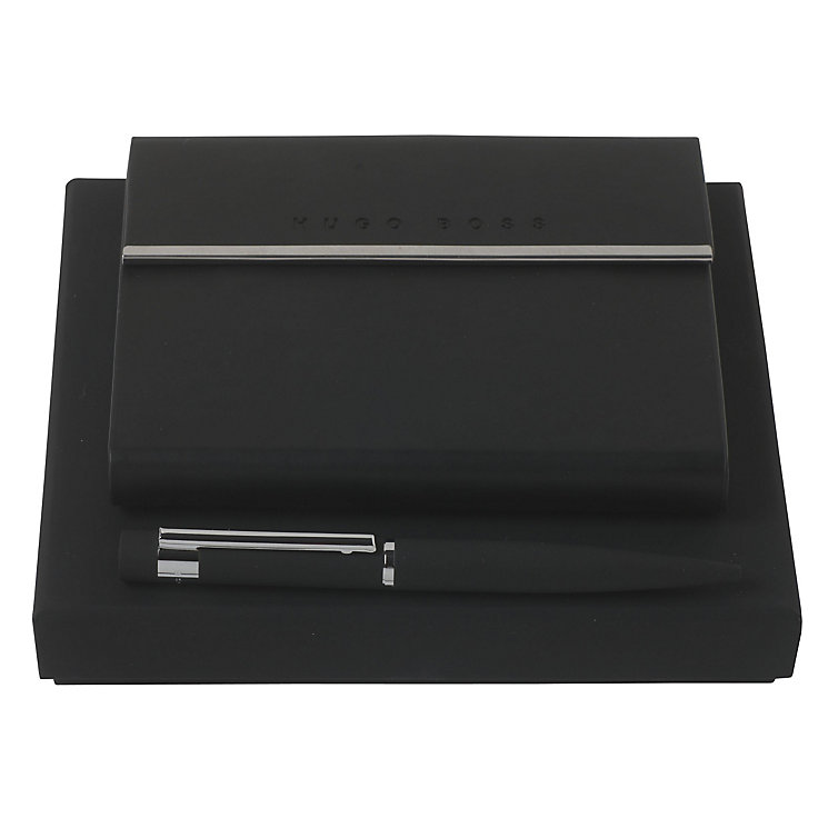 Hugo Boss Loop black ballpoint pen and notebook set - Product number 3808939
