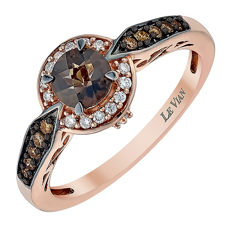 Le Vian 14ct Strawberry Gold Chocolate Quartz ring - Product number 3810046