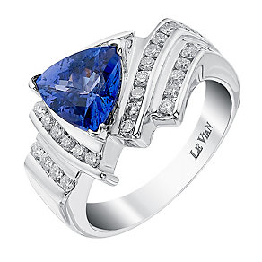 Le Vian 14ct White Gold Vanilla Diamond & Tanzanite Ring - Product number 3810569
