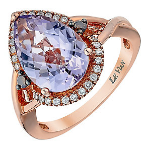 Le Vian 14ct Strawberry Gold Diamond & Amethyst ring - Product number 3810968