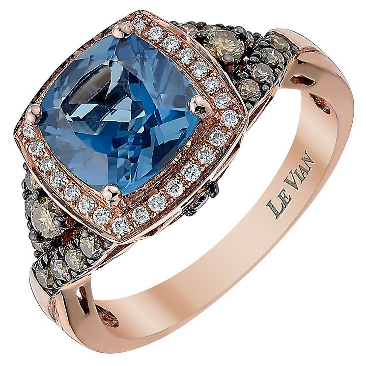 Le Vian 14ct Strawberry Gold Diamond & Topaz ring - Product number 3811190
