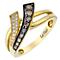 Le Vian 14ct Honey Gold Vanilla & Chocolate Diamond ring - Product number 3812111