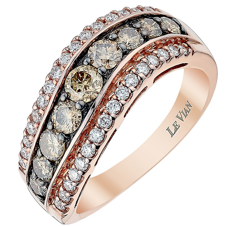Le Vian 14ct Strawberry Gold Vanilla Chocolate Diamond ring - Product number 3812685
