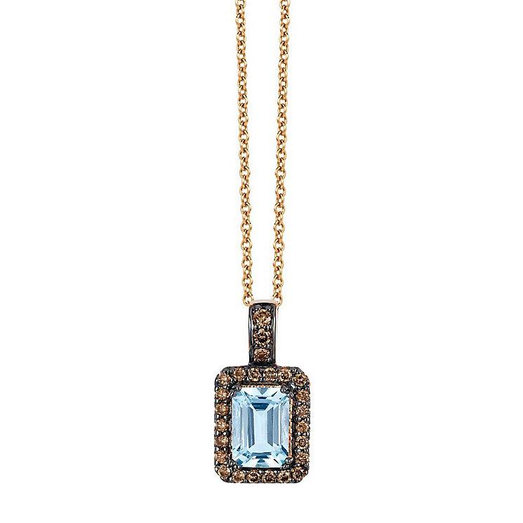 Le Vian Chocolatier 14ct Rose Gold Aquamarine Pendant - Product number 3814106