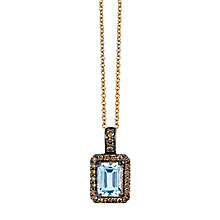 Le Vian Chocolatier 14ct Rose Gold Aquamarine Pendant - Product number 3814106