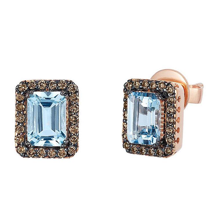 Le Vian Chocolatier 14ct Rose Gold Aquamarine Earrings - Product number 3814114