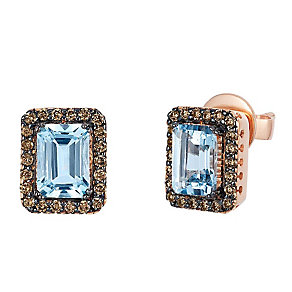 Le Vian Chocolatier 14ct Rose Gold Aquamarine Earrings - Product number 3814114