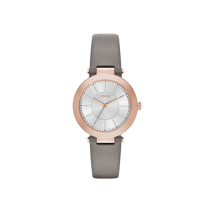 Dkny Stanhope Ladies' Rose Gold Tone White Strap Watch - Product number 3815196