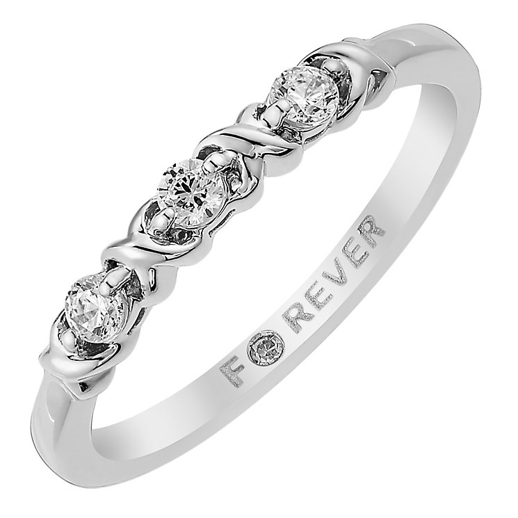 The Forever Diamond 18ct White Gold 0.15 Point  Diamond Ring - Product number 3816346