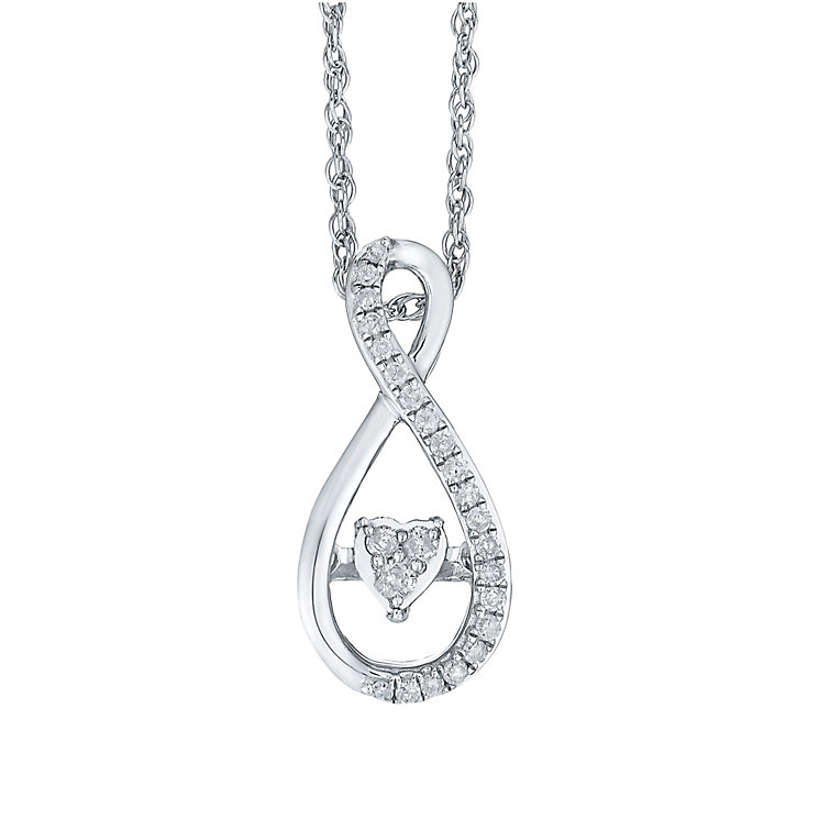 Diamonds In Rhythm Sterling Silver Diamond Figure 8 Pendant - Product number 3817318
