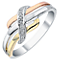 9ct Gold, White Gold & Rose Gold Diamond Eternity Ring - Product number 3818683