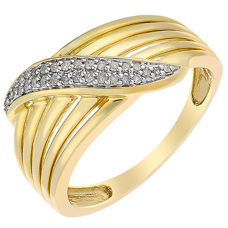 9ct Gold Diamond Set Eternity Ring - Product number 3818829