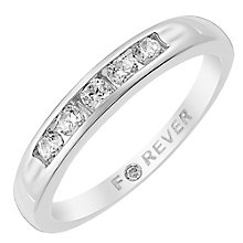 The Forever Diamond Platinum 1/4 Carat Diamond Ring - Product number 3819477