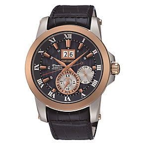 Seiko Premier men's rose gold-plated watch - Product number 3819825