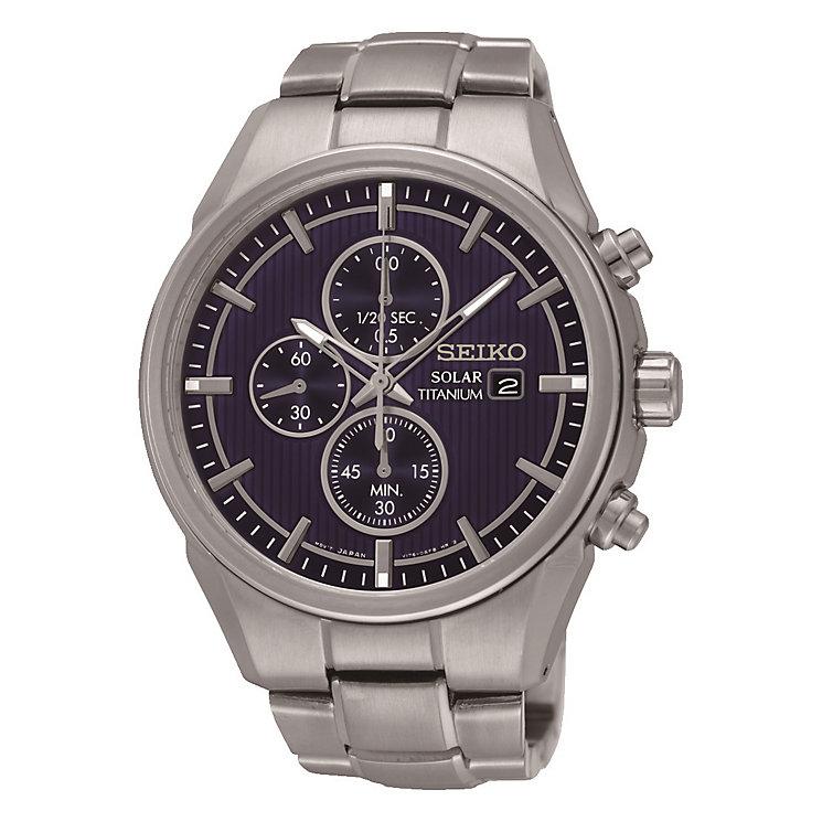 Seiko Solar men's titanium bracelet watch - Product number 3819914