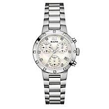 Bulova Ladies' Stainless Steel White Bracelet Watch - Product number 3820173