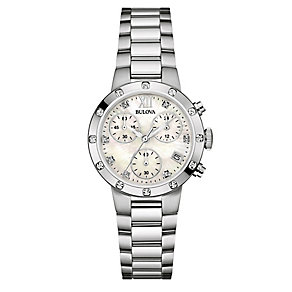 Bulova Ladies' Stainless Steel White Bracelet Watch - Product number 3820173