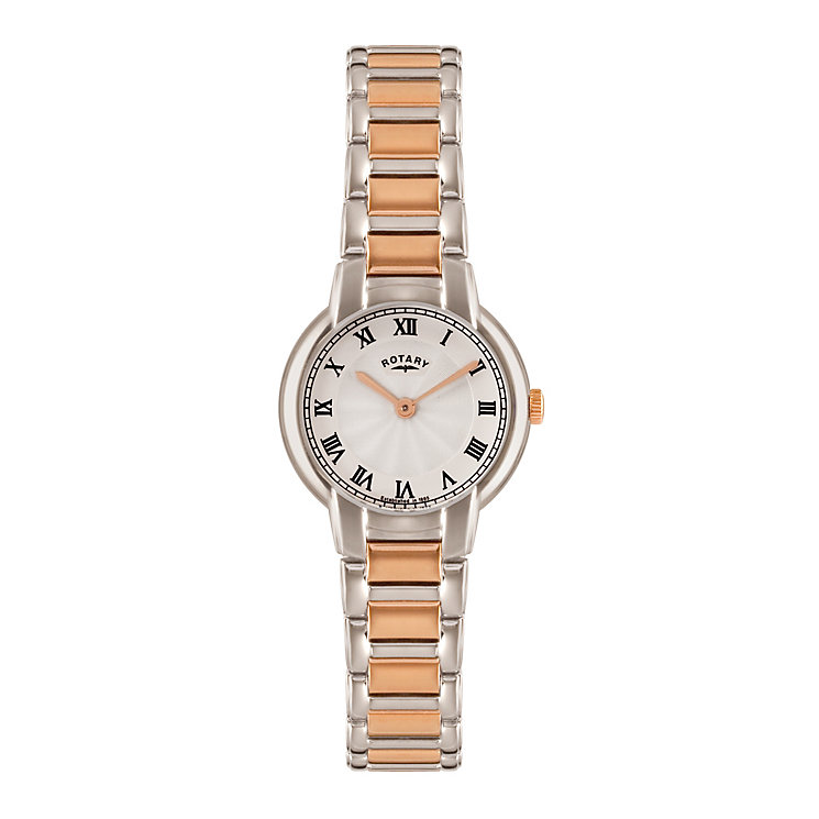 Rotary Ladies' Stainless Steel Two Colour Bracelet Watch