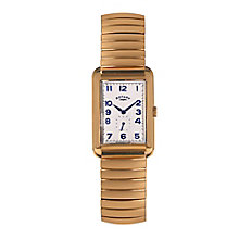 Rotary Men's Gold-plated Rectangle White Dial Bracelet Watch - Product number 3820211