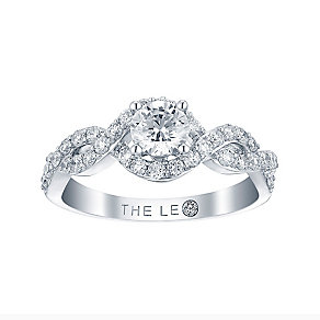 Leo Diamond 18ct white gold 1ct I I1 round cut diamond ring - Product number 3822087